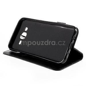 Peněženkové pouzdro s kočičkou Domi na Samsung Galaxy J5 - černé - 5