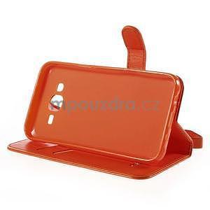 Peněženkové pouzdro s kočičkou Domi na Samsung Galaxy J5 - oranžové - 5