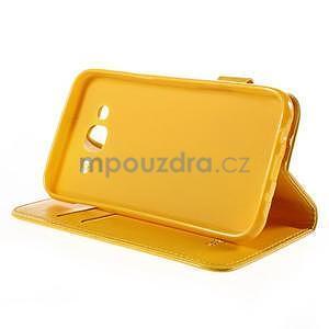 Peněženkové pouzdro s kočičkou Domi na Samsung Galaxy J5 - žluté - 5