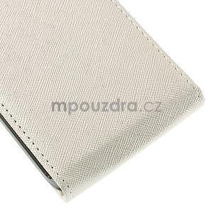 Flipové pouzdro na Samsung Galaxy J5 - bílé - 5