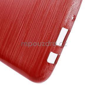Broušený gelový obal na Samsung Galaxy J5 - červený - 5