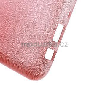 Broušený gelový obal na Samsung Galaxy J5 - růžový - 5