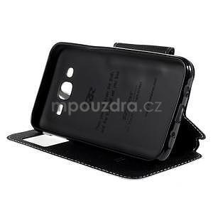 PU kožené pouzdro s okýnkem pro Samsung Galaxy J5 - bílé - 5