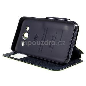 PU kožené pouzdro s okýnkem pro Samsung Galaxy J5 - zelené - 5