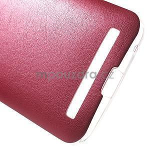Gelový obal s jemným koženkovým plátem na Asus Zenfone 2 Laser ZE500KL  - rose - 5