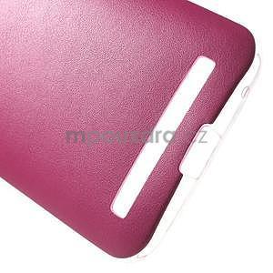 Gelový obal s jemným koženkovým plátem na Asus Zenfone 2 Laser ZE500KL  - růžový - 5
