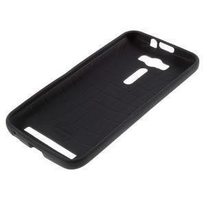Gelový obal s koženkovými zády na Asus Zenfone 2 Laser - UK vlajka - 5
