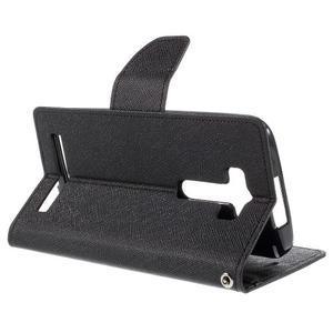 Diary stylové pouzdro na Asus Zenfone 2 Laser - černé - 5