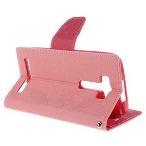 Diary stylové pouzdro na Asus Zenfone 2 Laser - růžové - 5