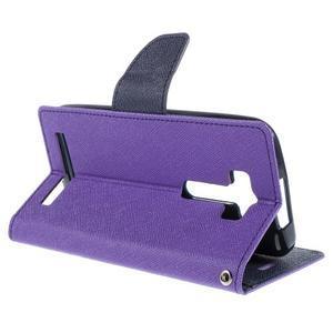 Diary stylové pouzdro na Asus Zenfone 2 Laser - fialové - 5