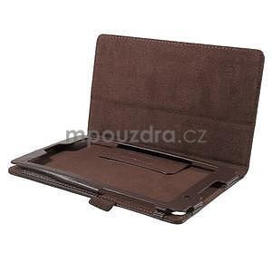 Safety koženkové pouzdro na Asus ZenPad C 7.0 Z170MG - hnědé - 5