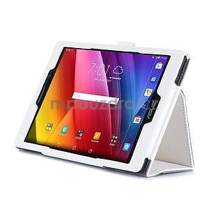 Polohovatelné koženkové pouzdro na tablet Asus ZenPad S 8.0 - bílé - 5
