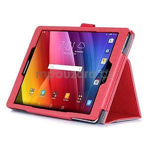 Polohovatelné koženkové pouzdro na tablet Asus ZenPad S 8.0 - červené - 5