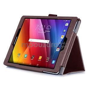Polohovatelné koženkové pouzdro na tablet Asus ZenPad S 8.0 - hnědé - 5