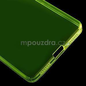 Transparentní gelový obal na telefon Honor 7 - žlutý - 5