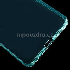 Transparentní gelový obal na telefon Honor 7 - azurový - 5
