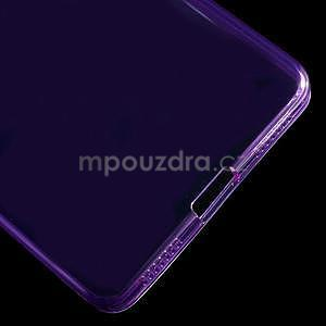 Transparentní gelový obal na telefon Honor 7 - fialový - 5