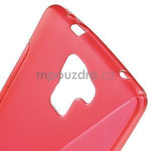 Červený gelový kryt S-line na Huawei Honor 7 - 5