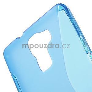 Modrý gelový kryt S-line na Huawei Honor 7 - 5