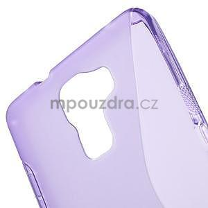 Fialový gelový kryt S-line na Huawei Honor 7 - 5