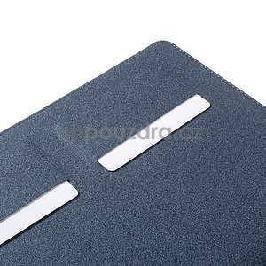 Elegant polohovatelné pouzdro na iPad Air 2 - tmavěmodré - 5