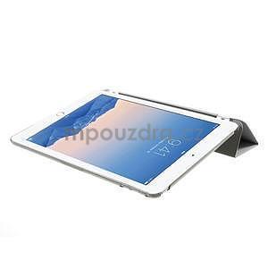 Trifold polohovatelné pouzdro na iPad Air 2 - šedé - 5