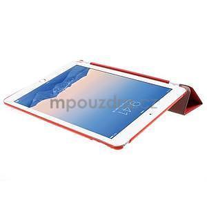 Trifold polohovatelné pouzdro na iPad Air 2 - červené - 5