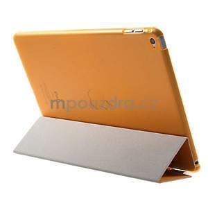 Trifold polohovatelné pouzdro na iPad Air 2 - oranžové - 5