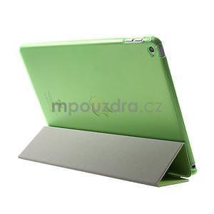Trifold polohovatelné pouzdro na iPad Air 2 - zelené - 5