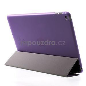 Trifold polohovatelné pouzdro na iPad Air 2 - fialové - 5