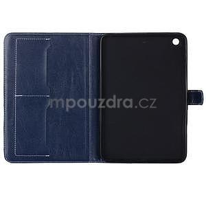 Fashion style pouzdro na iPad Air 2 - tmavě modré - 5