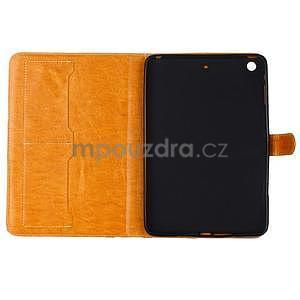 Fashion style pouzdro na iPad Air 2 - světlehnědé - 5