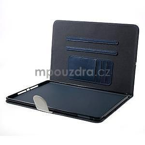 Daffi elegantní pouzdro na iPad Air 2 - tmavěmodré - 5