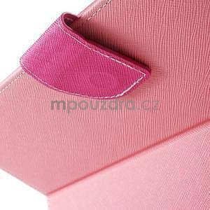 Diary peněženkové pouzdro na iPad Air - růžové - 5