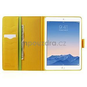 Diary peněženkové pouzdro na iPad Air - zelené - 5