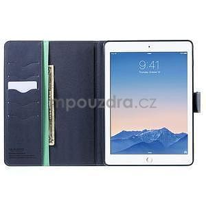 Diary peněženkové pouzdro na iPad Air - azurové - 5