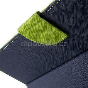 Diary peněženkové pouzdro na iPad Air - tmavěmodré - 5