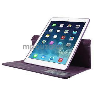 Circ otočné pouzdro na Apple iPad Air - fialové - 5