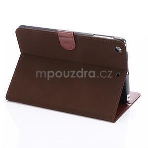 Cloth luxusní pouzdro na Ipad Mini 3, Ipad Mini 2 a Ipad Mini - coffee - 5