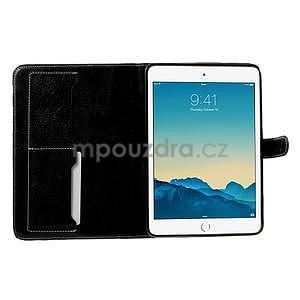 Kostkované pouzdro na Apple iPad Mini 3, iPad Mini 2 a iPad Mini - černé - 5