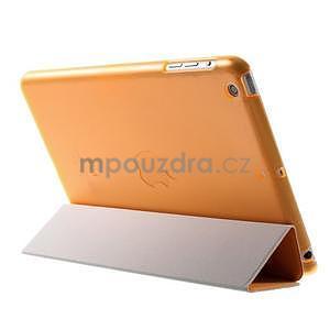 Classic tří polohové pouzdro na iPad Mini 3, ipad Mini 2 a na iPad Mini - oranžová - 5