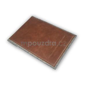 Envelope univerzální pouzdro na tablet 22 x 16 cm - hnědé - 5