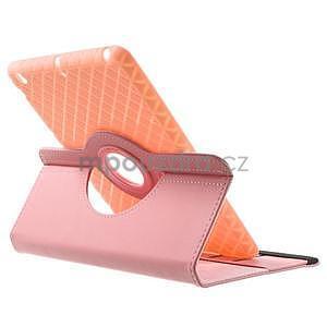 Circu otočné pouzdro na Apple iPad Mini 3, iPad Mini 2 a ipad Mini - růžové - 5
