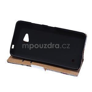 Koženkové pouzdro na mobil Microsoft Lumia 640 - královská koruna - 5