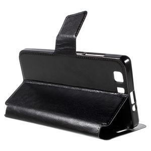 Peněženkové PU kožené pouzdro na mobil Doogee X5 - černé - 5