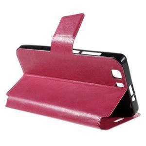Peněženkové PU kožené pouzdro na mobil Doogee X5 - rose - 5