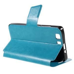 Peněženkové PU kožené pouzdro na mobil Doogee X5 - modré - 5