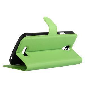 Peněženkové pouzdro na mobil Doogee X6 - zelené - 5