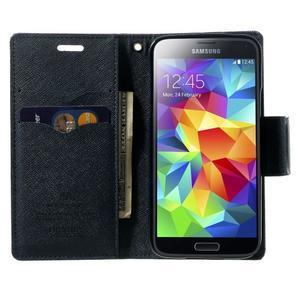 Diary PU kožené pouzdro na Samsung Galaxy S5 mini - fialové - 5