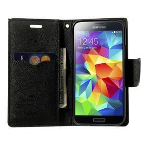 Diary PU kožené pouzdro na Samsung Galaxy S5 mini - hnědé - 5